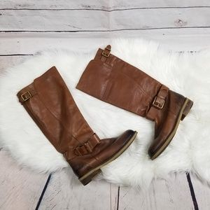 Lucky Brand Buckle Riding Style Boots Size 8.5